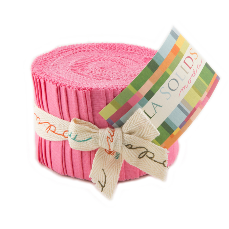 Moda Bella Solids Junior Jelly Roll pink