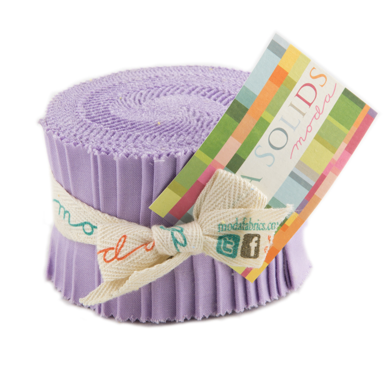 Bella Solids Junior Jelly Roll® 66 Lavendar
