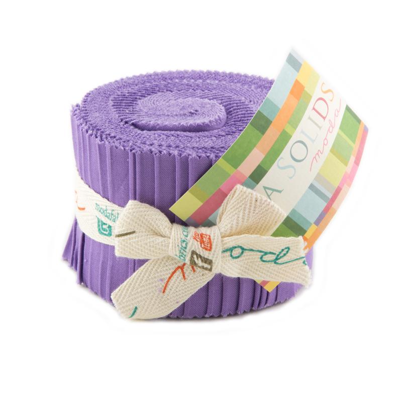 Bella Solids Junior Jelly Roll Moda Hyacinth 9900JJR 93