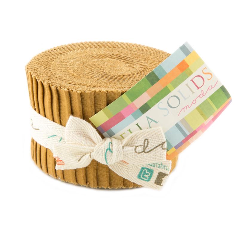Bella Solids Junior Jelly Roll Hay