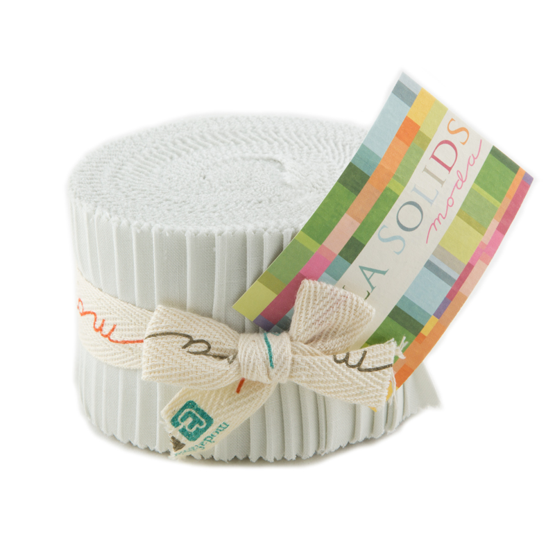 Bella Solids Junior Jelly Roll® 20 White