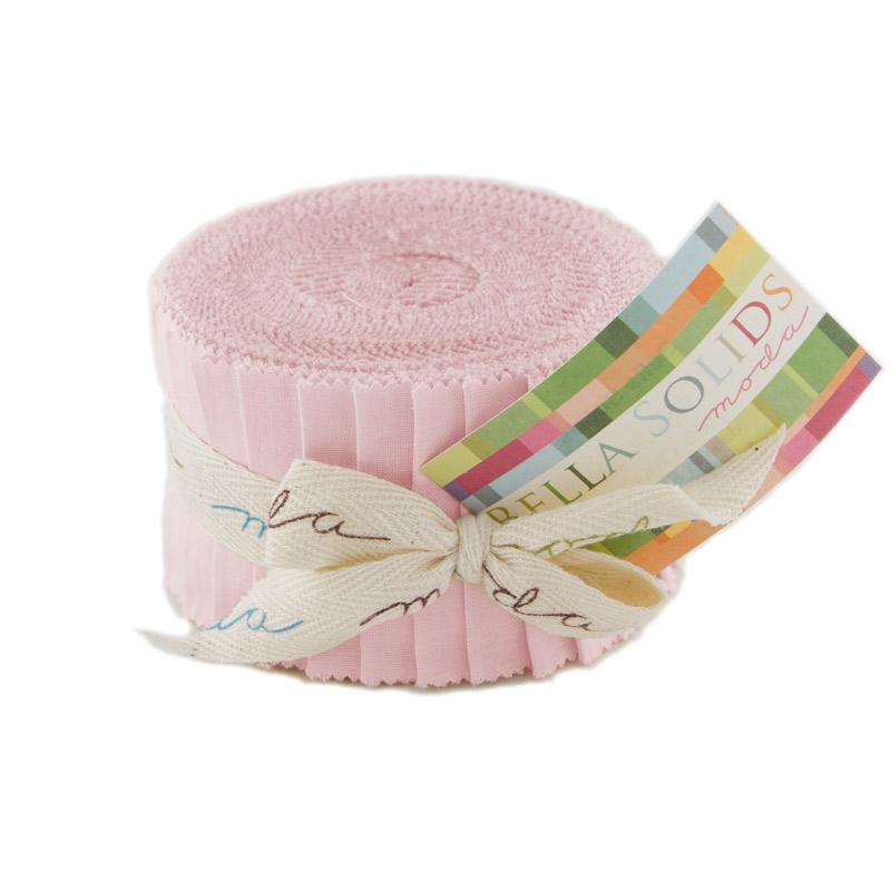 Bella Solids Junior Jelly Roll? pink