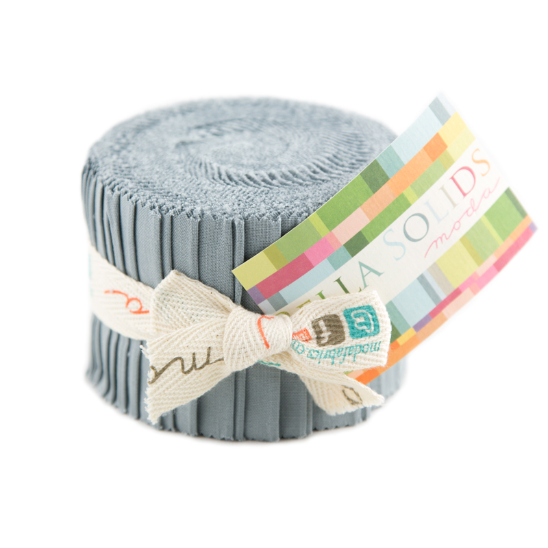 Bella Solids Junior Jelly Roll Steel