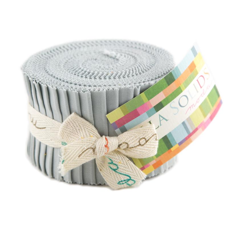 Bella Solids Junior Jelly Roll® Gray