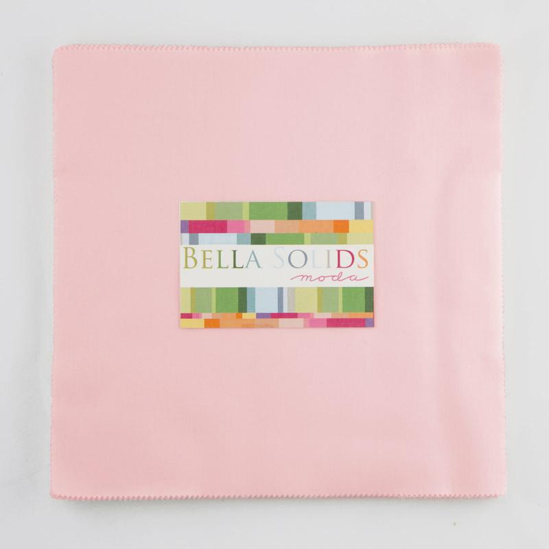 Bella Solids Junior Layer Cake Pink by Moda 9900JLC-145