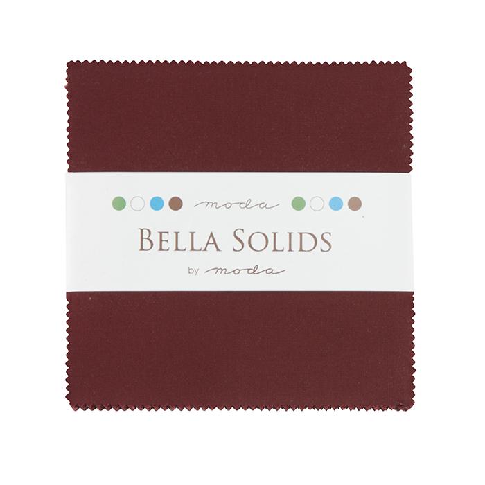 Bella Solids Charm Pack Burgundy 9900PP 18