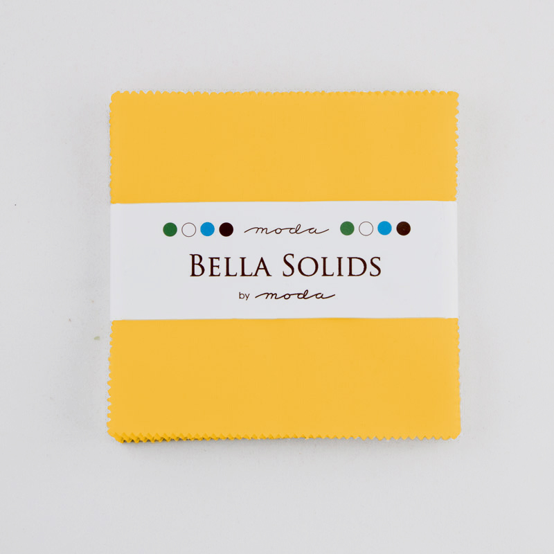 Bella Solids Charm Pack Yellow