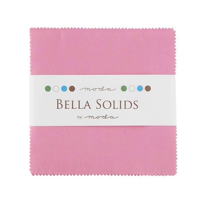 Bella Solids Charm Pack 30s Pink
