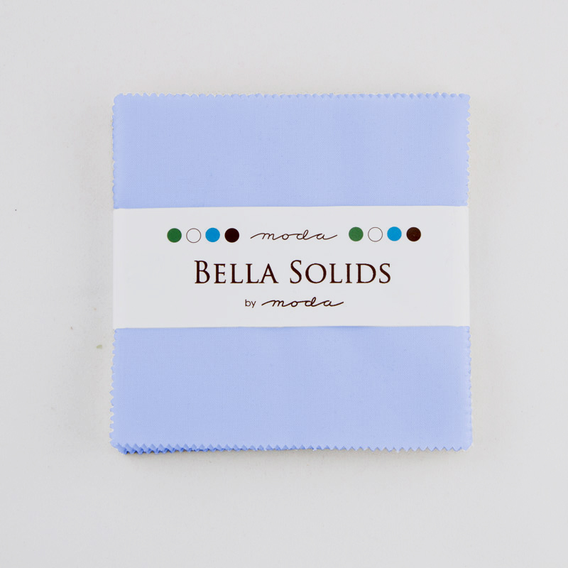 Bella Solids Charm Pack Baby Blue by Moda 9900PP-32