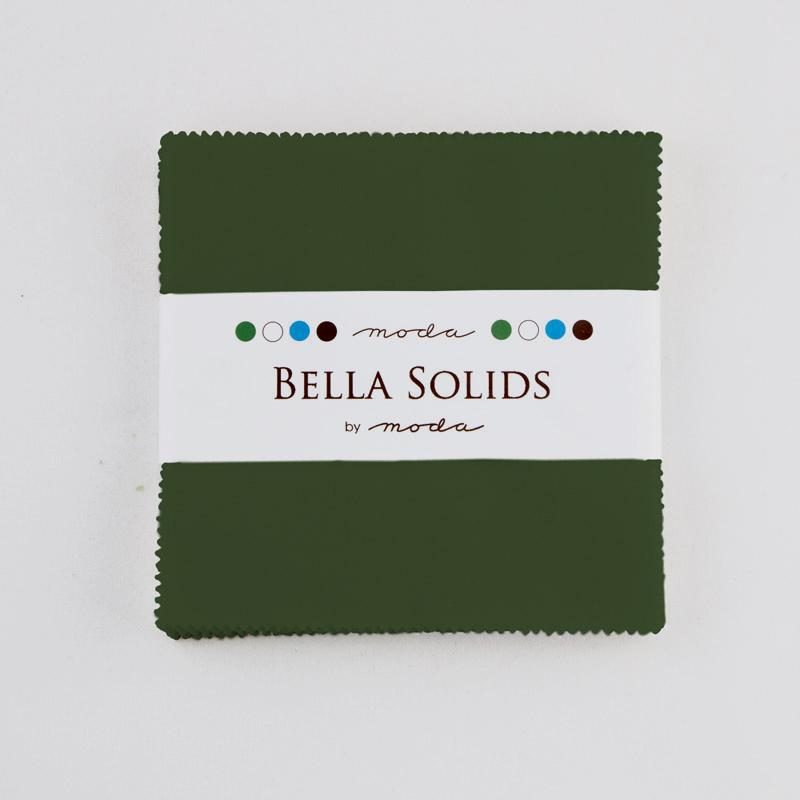 Bella Solids Charm Pack Pine