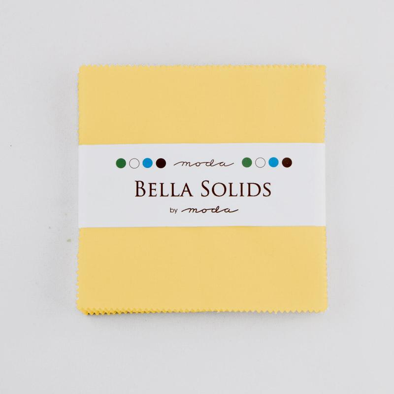 Bella Solids Charm Pack Buttercup
