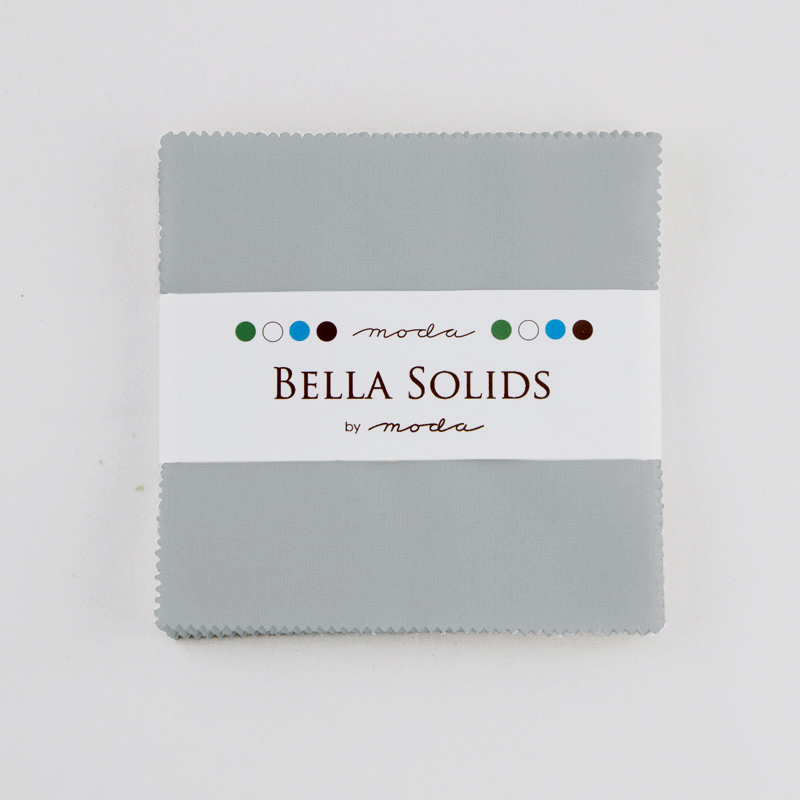 Bella Solids Charm Pack Steel