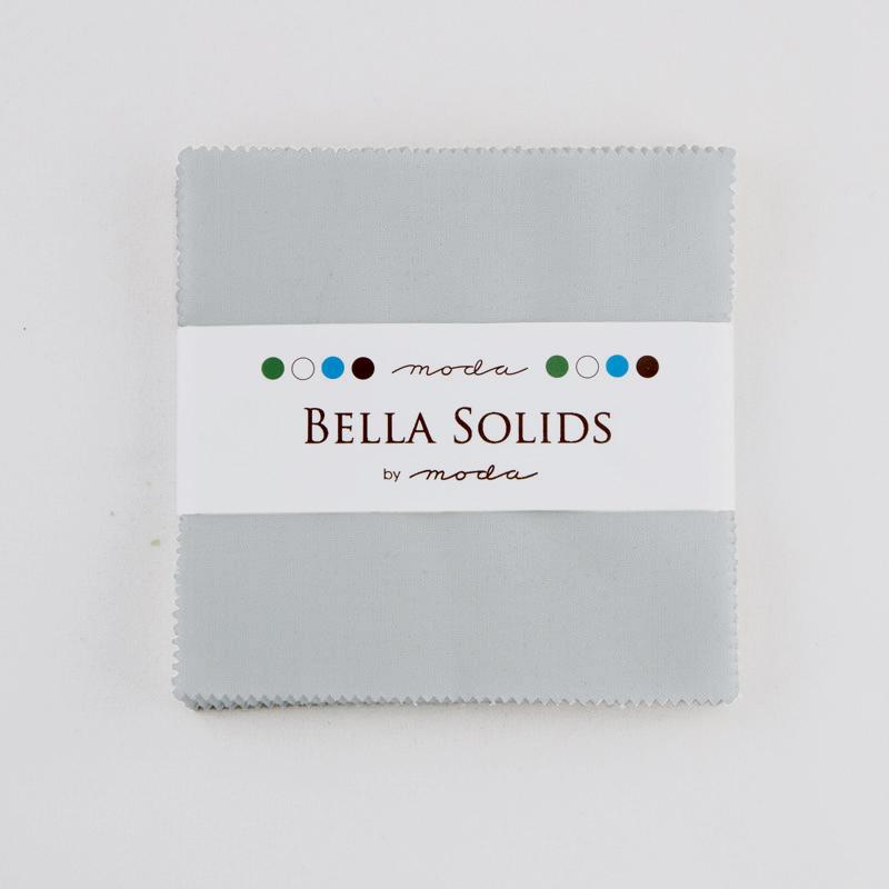 Bella Solids Charm Pack Zen Grey