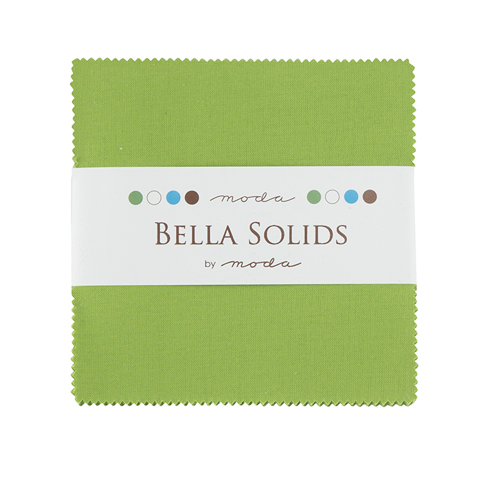 Bella Solids Charm Pack Fresh Grass