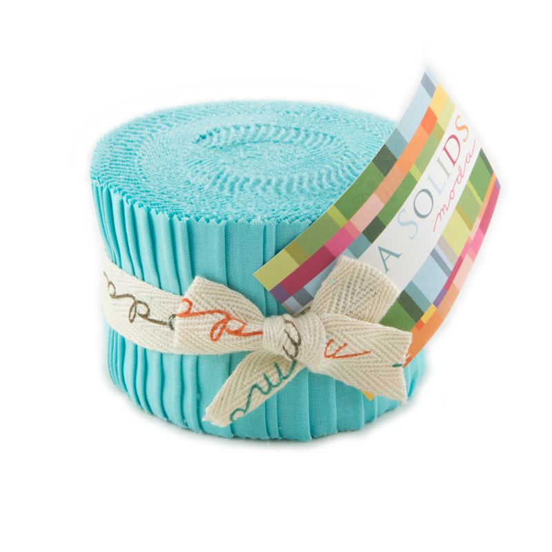 SALE  Bella Solids Junior Jelly Roll Turquois 9900JJR85