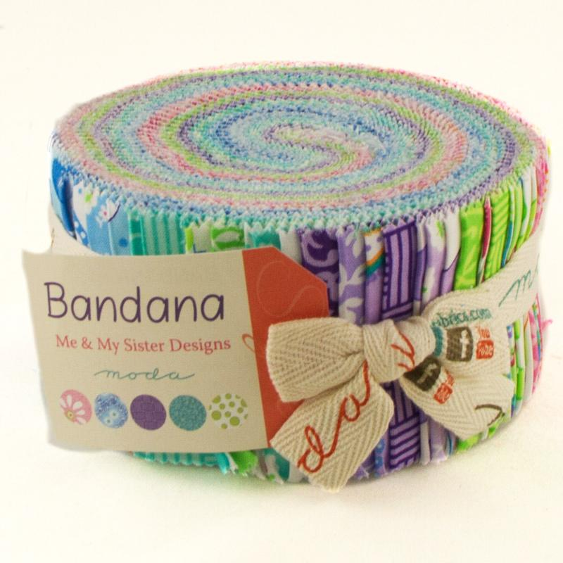 Bandana Jelly Roll 2.5 in - Me and My Sister - Moda