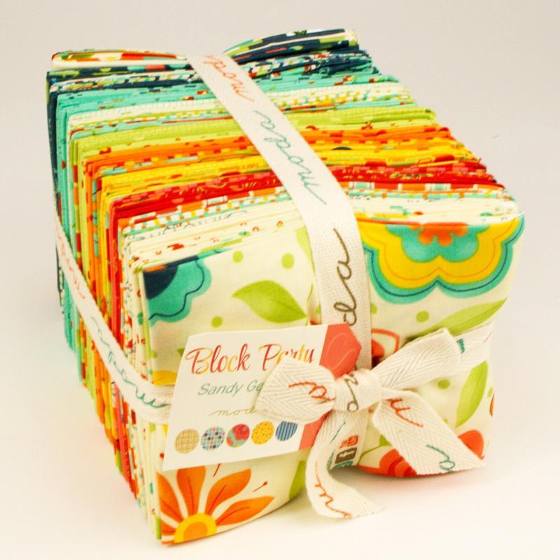 Block Party Fat Quarter Bundle 18x22 (39 pieces) - Sandy Gervais - Moda