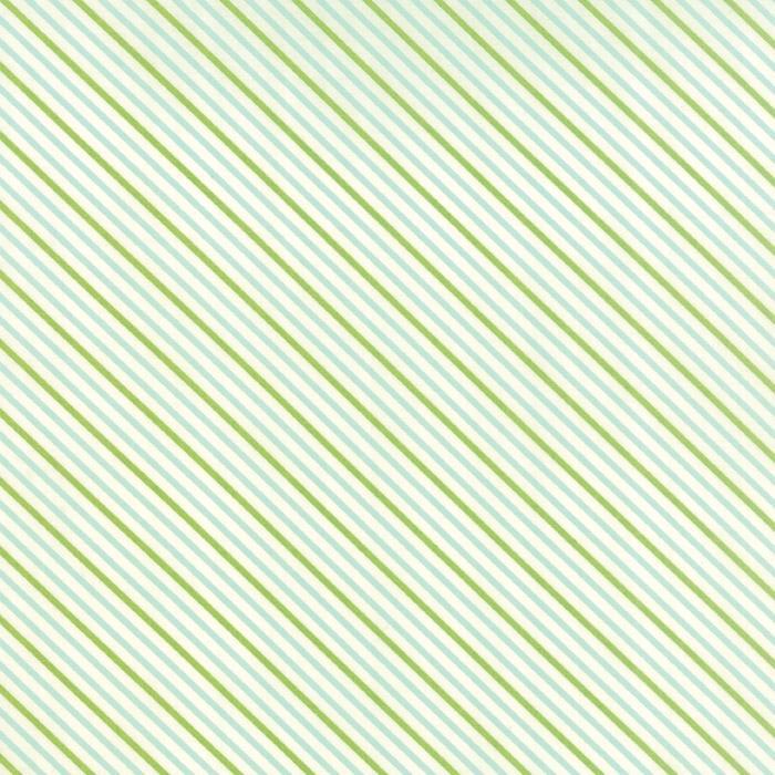 Hello Darling Aqua Green Stripes