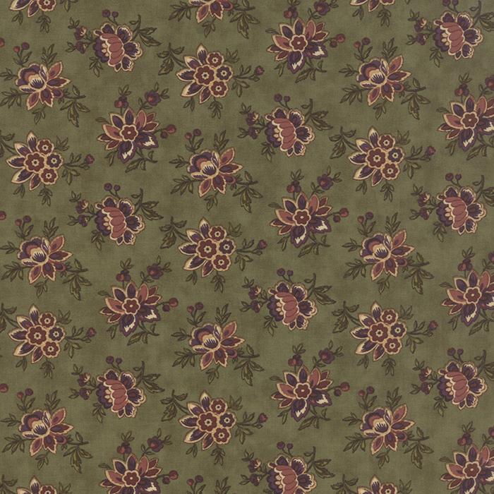 MODA HAWTHORN RIDGE MOSS/MAUVE FLOWERS 2161 12