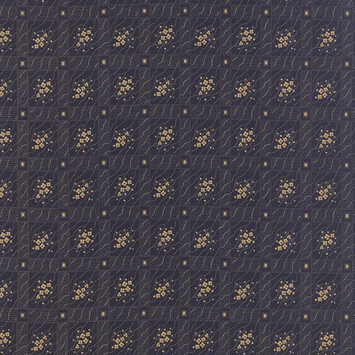 MODA HAWTHORN RIDGE NAVY/BLOCKS/TINY GOLD FLOWERS 2164 13