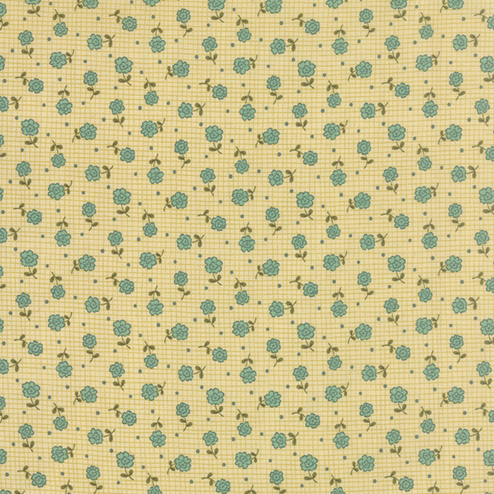 PRINTS CHARMING CREAM TEAL 17843 11
