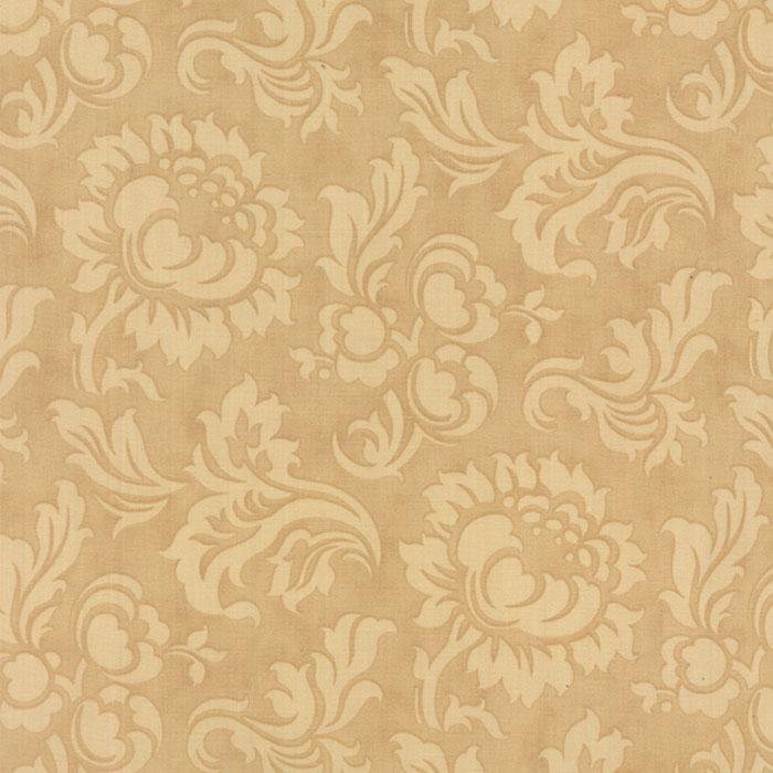 Mille Couleurs Sepia cream floral on tan
