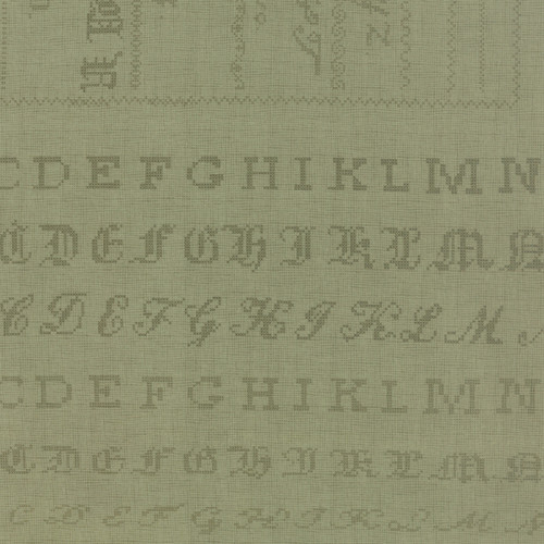 Panel 100: Cross Stitch Alphabet English Ivy - Hyde Park