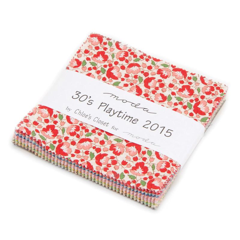 30s Playtime 2015 Charm Pack (42 Pieces) - Chloes Closet - Moda