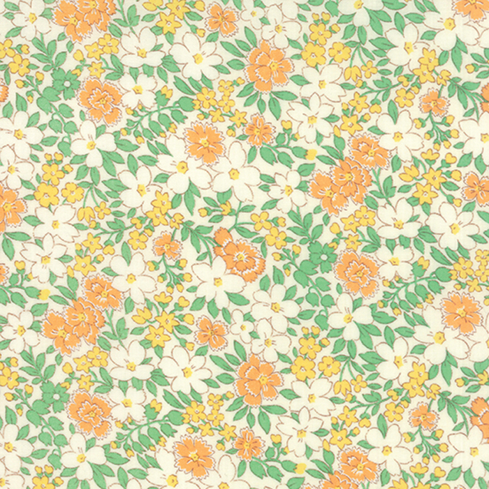 30s Playtime Floral Apricot - Moda  (#7197)