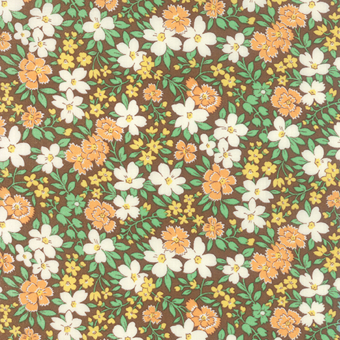 30s Playtime Floral Cocoa - Moda  (#7198)
