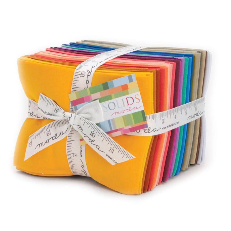 Bella Solids New Fat Quarter Bundle 18x22 (28 pieces) - Moda