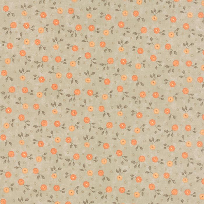 MODA REFRESH LINE COLOR : 17866-11 BROWN WITH ORANGE FLOWERS