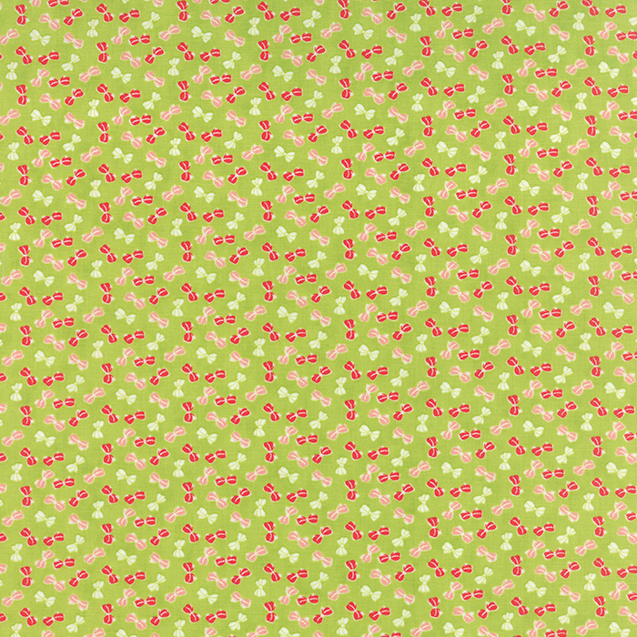 Q - Moda - Little Ruby - Green with Bows