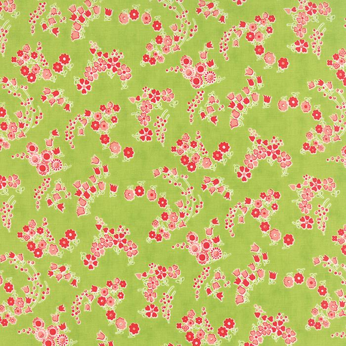 Q - Moda - Little Ruby - Green with Flowers