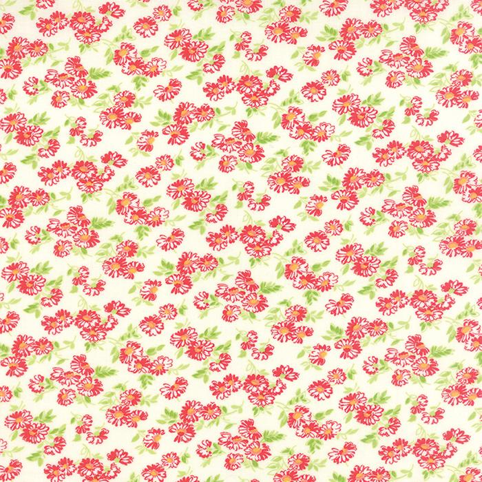 Little Ruby Cream Floral 1 yd