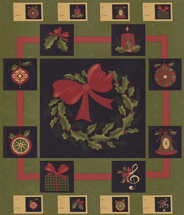 Delightful December Panel Pine