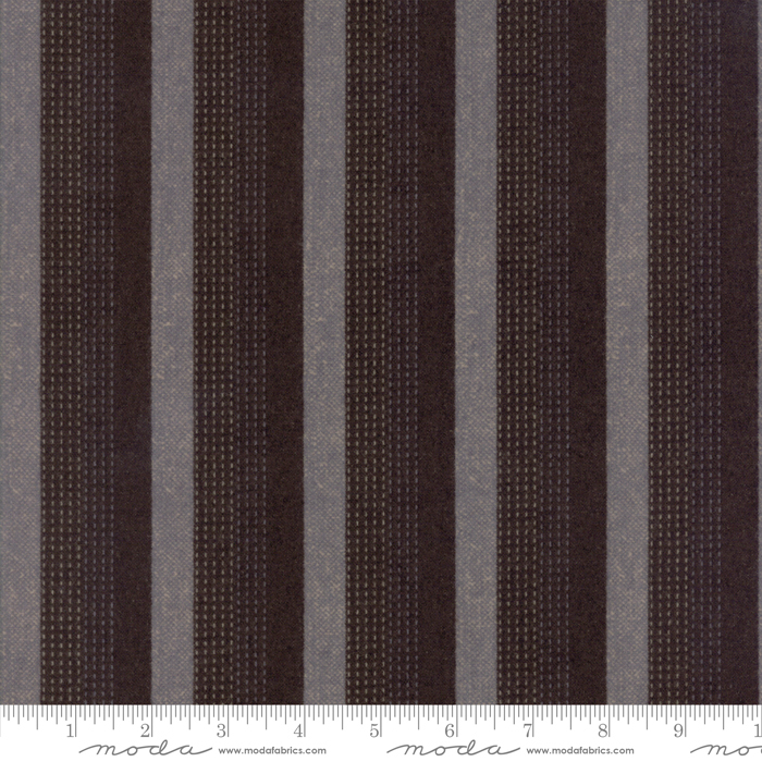 Moda Wool & Needle Flannels IV Tractor Oil Grey 1193 13F