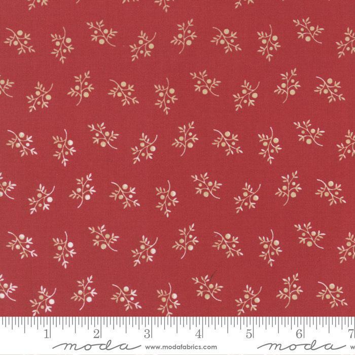 FERN HILL BY JAN PATEK 2186 12 POPPY RED WITH SMALL CREAM BRANCH