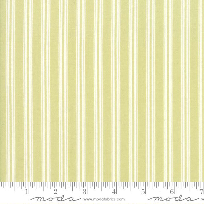 Darling Little Dickens Ticking Stripe - Green