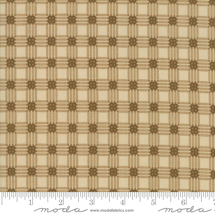 MODA CORAL BELLS BY JAN PATEK LINEN WITH SHADES OF BROWN PLAID 2193 11