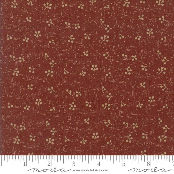 MODA CORAL BELLS CRANBERRY WITH TAN VINES 2194 12