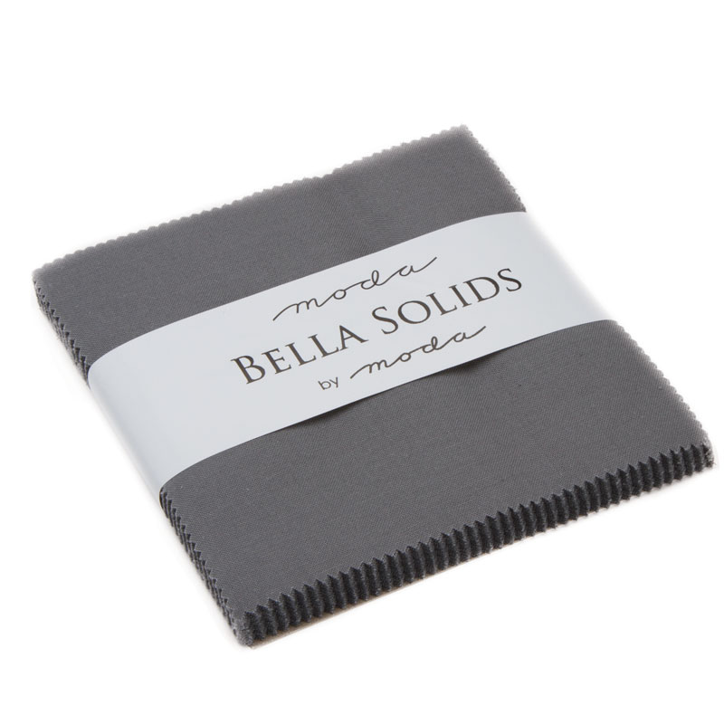 Bella Solids Graphite Charm Pack by Moda Basics 9900PP-202