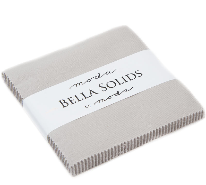 Bella Solids Charm Pack Gray