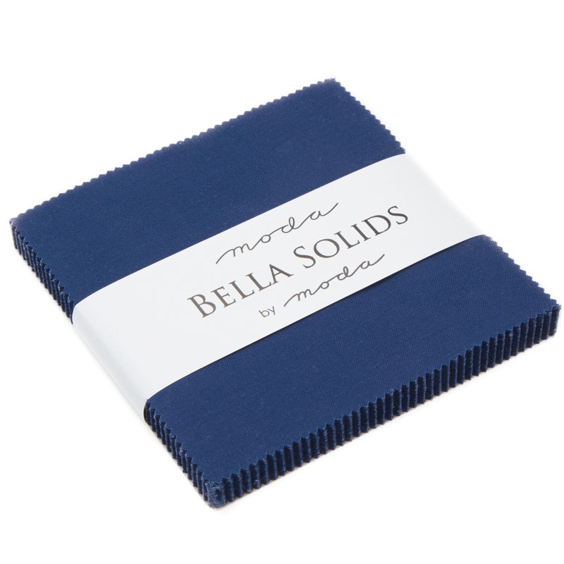 Bella Solids Charm Pack Nautical Blue