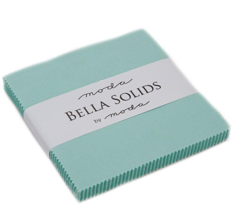 Bella Solids Charm Pack Aqua