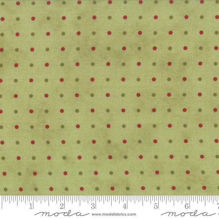 14832 13 Snowfall Prints Garland Green  Snowfall Prints By Minick & Simpson for Moda Fabrics