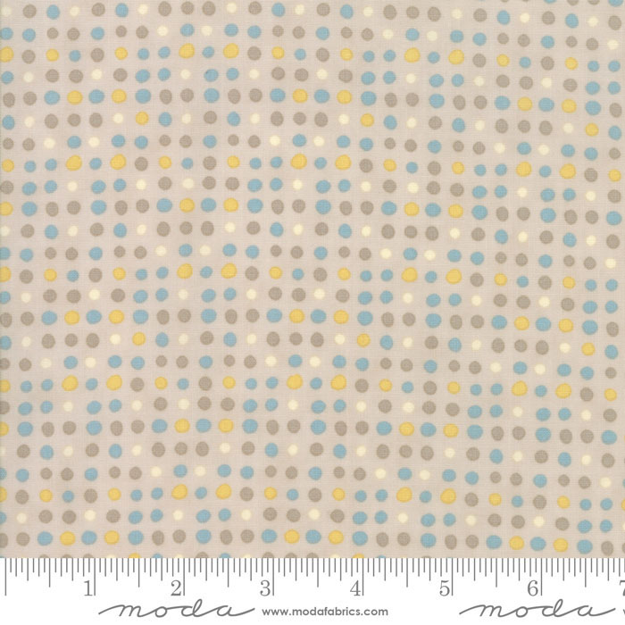 Corner of 5th & Fun Brushed Flannel- brown dot