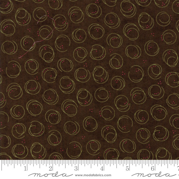 MODA HOLLY TAYLOR FOREVER GREEN BROWN WITH SWIRLS 6695 19