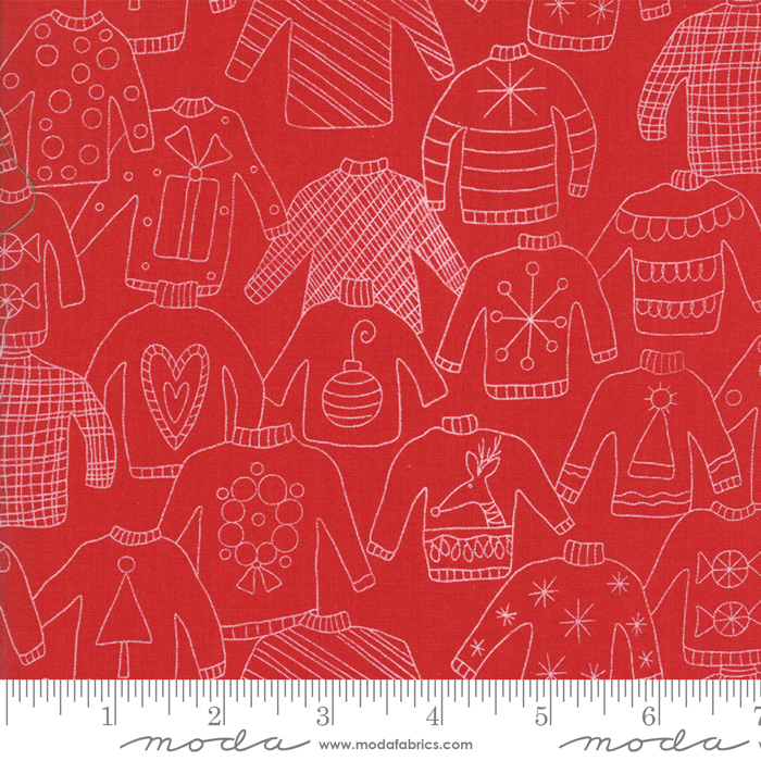 L13 Deal 6 - 2 Yard Cut of Eat Drink Be Ugly Santa Red