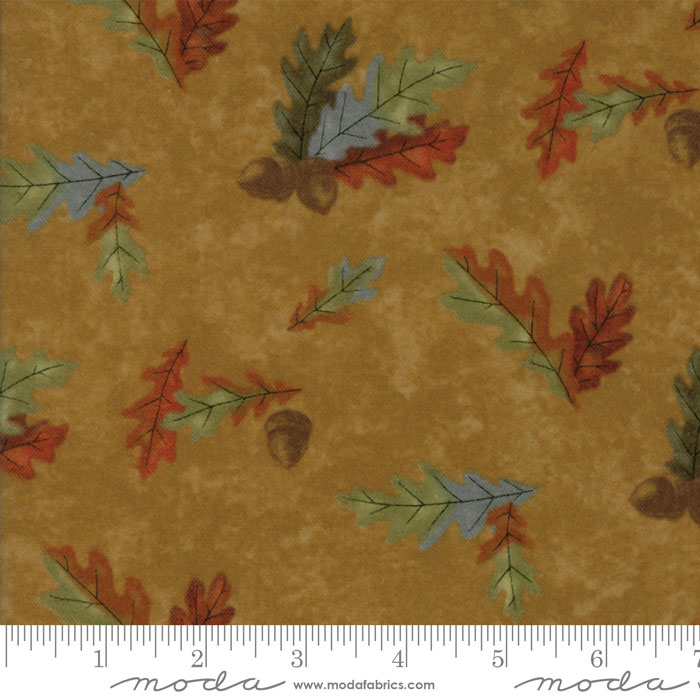 Fall Impressions Mustard - Leaves (Flannel)